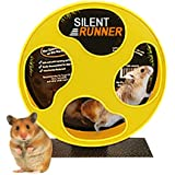 "Exotic Nutrition Silent Runner 9"" - Pet Exercise Wheel + Cage Attachment"