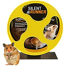 """Exotic Nutrition Silent Runner 9"""" - Pet Exercise Wheel + Cage Attachment"""