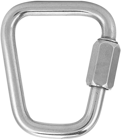 10pcs Carabiner D Small Camping Locking Strong Silver Steel Marine Quick Screw