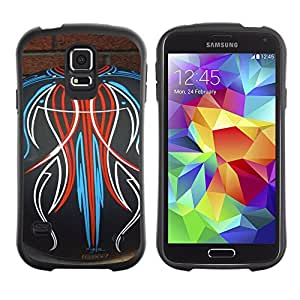 Paccase / Suave TPU GEL Caso Carcasa de Protección Funda para - Bowling Decal Abstract Pattern Brick - Samsung Galaxy S5 SM-G900