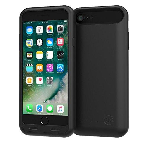 TAMO EDGE 3100 mAh Dual-Purpose Ultra-Slim Protective Extended Battery iPhone 7 Case, Matte Black (Premium Retail Packaging) by TAMO (Image #1)