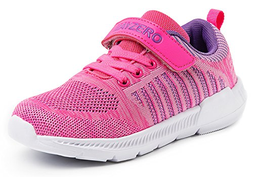 Vivay Kids Boys Tennis Shoes Breathable Athletic Running Sneakers for Girls Pink