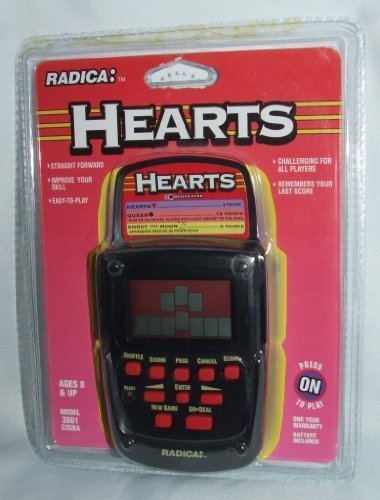 RADICA HEARTS Electronic Hand Held Game