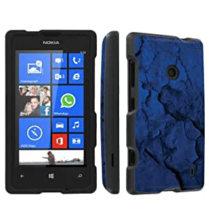 SkinGuardz Nokia Lumia 521 Full Protection Hard Case - (Blue Rustic Black)