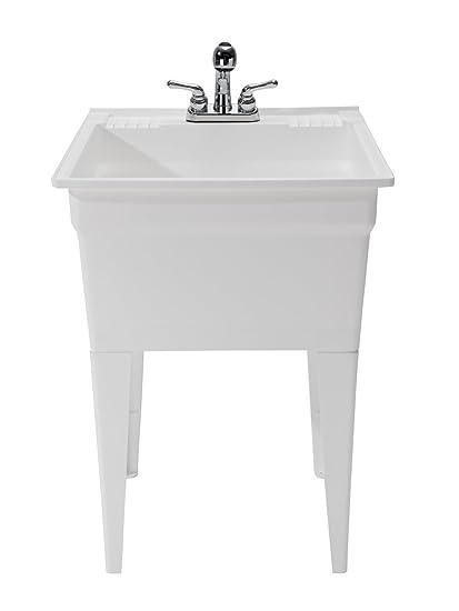 Utility Sink.Cashel Heavy Duty Free Standing Utility Sink Fully Loaded Sink Kit 1960 32 01 White