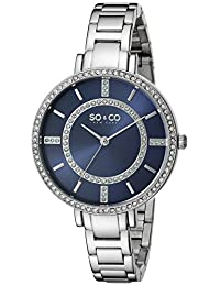 SO & CO New York Women's 5066.2 SoHo Analog Display Quartz Silver Watch