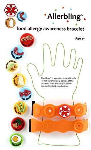 Allerbling Food Allergy Awareness Bracelet