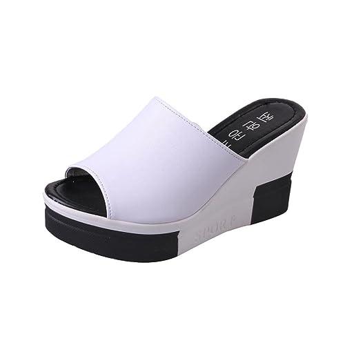 PAOLIAN Sandalias de cuña para Mujer Plataforma Verano 2018 Chanclas de cuña Zapatos de tacón de