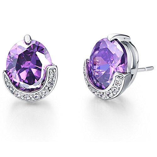 [Slyq Jewelry Stud Earring for WeddingGirlfriend Copper Earring with Purple RedFashion Jewelry R200] (Minnie Mouse Nose)