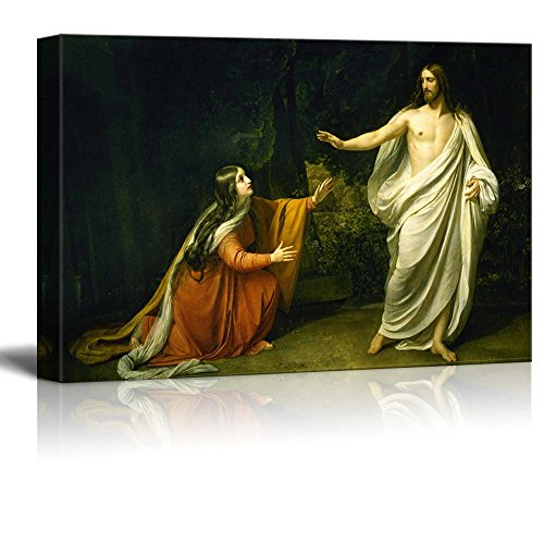 wall26 - Christ's Appearance to Mary Magdalene After The Resurrection by Alexander Ivanov - Canvas Print Wall Art Famous Painting Reproduction - 12