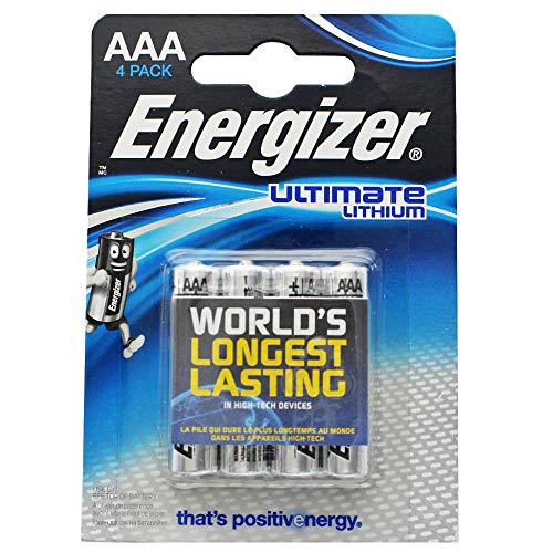 - Energizer- L92 Ultimate Lithium Battery Aaa Size - 4 Pack