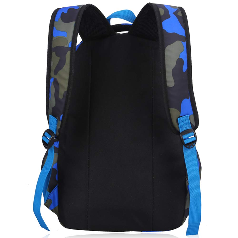 OuTrade School Backpack Casual Daypack Travel Outdoor Camouflage Backpack for Boys and Girls-Camouflage Blue Great for School