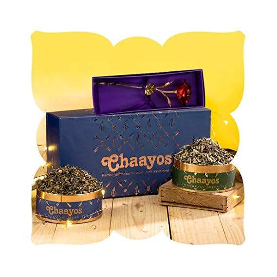Chaayos Premium Diwali Gift Box with Immunity Boosting Green Teas and God Ganesh Idol