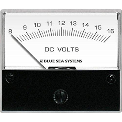 Blue Sea 8003 DC Analog Voltmeter - 2-3/4 Face, 8-16 Volts DC consumer (Blue Sea 8003 Voltmeter)