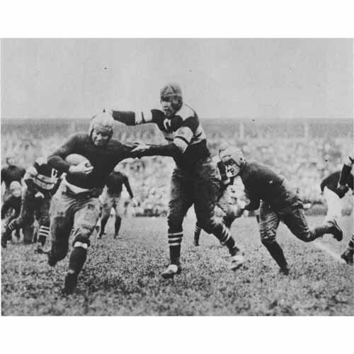 Quality digital print of a vintage photograph - Jim Thorpe Playing for the Canton Bulldogs, 1915. Black & White 11x14 inches - Luster Finish