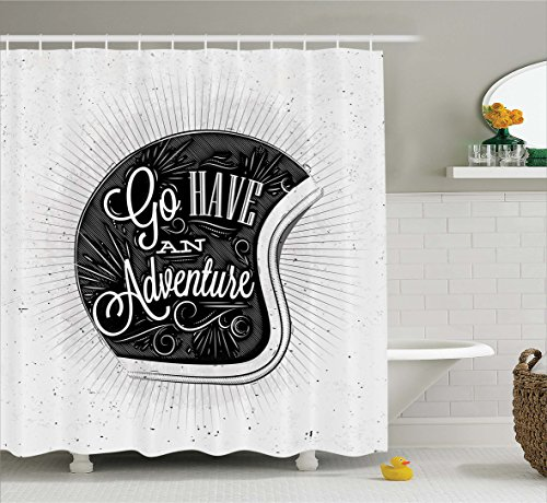 vintage motorcycle shower curtain - 3