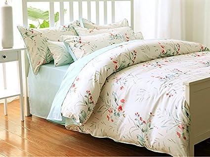 Toda la ropa de cama de algodón cama cuatro piezas del francés pastoral,Four Piece