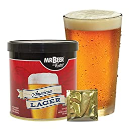 Mr. Beer American Lager 2 Gallon Homebrewing Craft Beer Refill Kit
