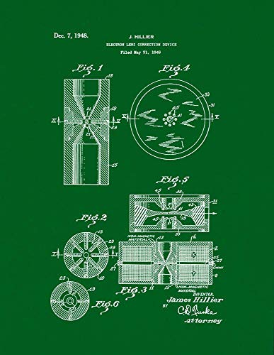 Electron Lens Correction Device Patent Print Green (24