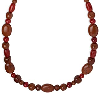 product image for Carolyn Pollack Sterling Silver Red Coral, Japer and Carnelian Gemstone Red Necklace 18 Inch