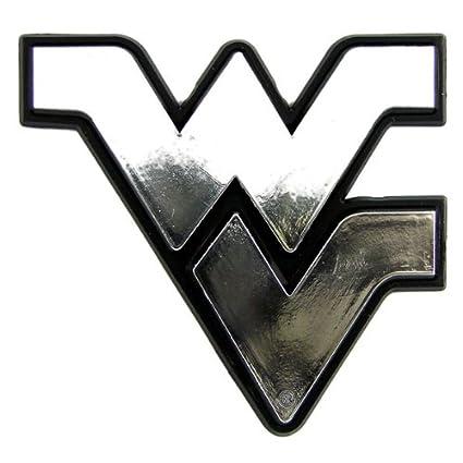 2424255e37 Amazon.com  West Virginia Mountaineers Chrome Auto Emblem  Sports   Outdoors