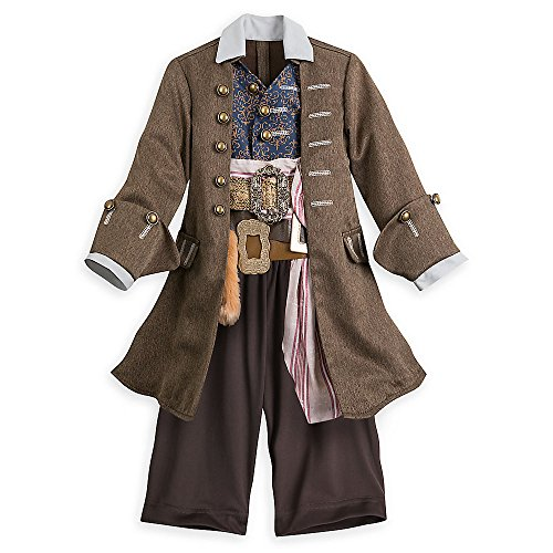Kids For Costume Jack Captain Sparrow (Disney Captain Jack Sparrow Costume for Kids Pirates of the Caribbean: Dead Men Tell No Tales Size)