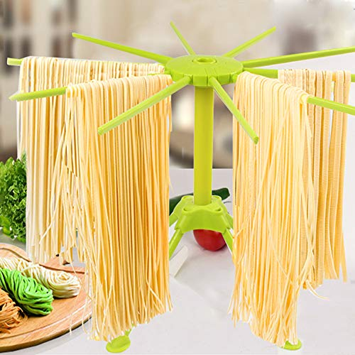 Pasta Drying Rack 10 Bar Handles Collapsible Household Noodl