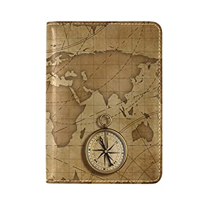 ALAZA World Map Airplane Leather Travel Passport Covers Holder Case  Protector cheap c9f3cc7a00b32