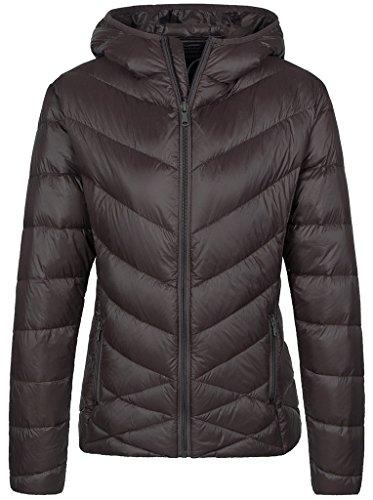 (Wantdo Women's Lightweight Hooded Down Jacket Packable Winter Coat Coffee S )