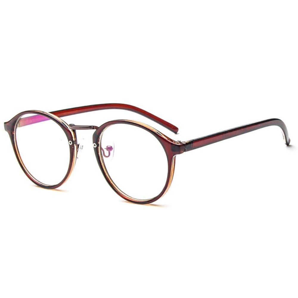 ce36503bc6554 Forepin Lunettes rondes vintage rétro reg; Monture lunettes de vue  transparent pour femme et homme Pont ...