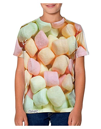 tooloud-marshmallows-all-over-youth-t-shirt-single-side-12-yrs-all-over-print