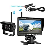 iStrong Backup Camera Wireless Built in and Monitor Kit 12V-24V Rear View Camera Night Vision 7″ Display Waterproof for RV/Truck/Trailer/Bus/Camper Wireless transmission distance over 100ft Review