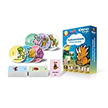Indonesian for Kids - Learning Indonesian for Children Standard DVD Set (6 DVDs), Indonesian flashcards