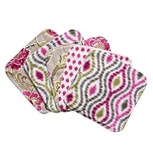 Trend Lab Waverly Jazzberry Bouquet 5 Piece Wash Cloth Set by Trend Lab by Trend Lab
