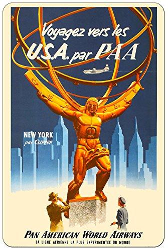 New York Central Park United States Vintage Metal Plaque