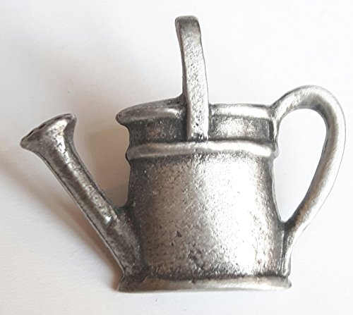 (Fine Pewter Watering Can Pin Badge with Gift Pouch)