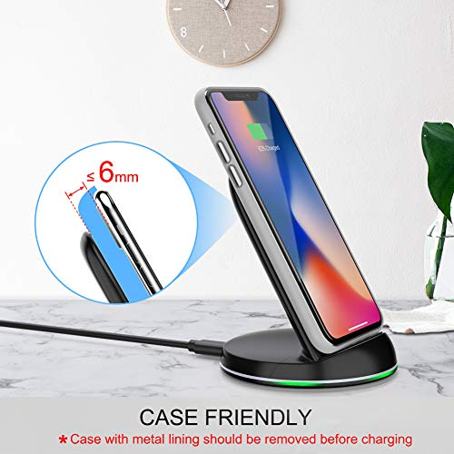 Yootech Wireless Charger Qi-Certified, 7.5W Wireless Charging Stand Compatible iPhone X/8/8 Plus,10W Compatible Galaxy S9/S9 Plus/Note8/S8/S8 Plus,5W All Qi-Enabled Phones(No AC Adapter) by yootech (Image #1)