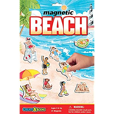Create-A-Scene Magnetic Playset - Beach: Toys & Games