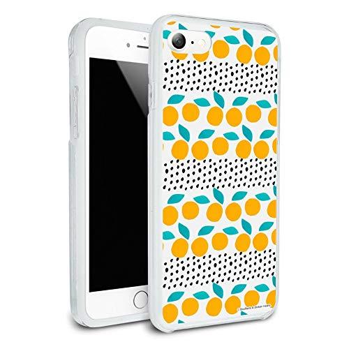 Citrus Dots Pattern Protective Slim Fit Hybrid Rubber Bumper Case Fits Apple iPhone 8