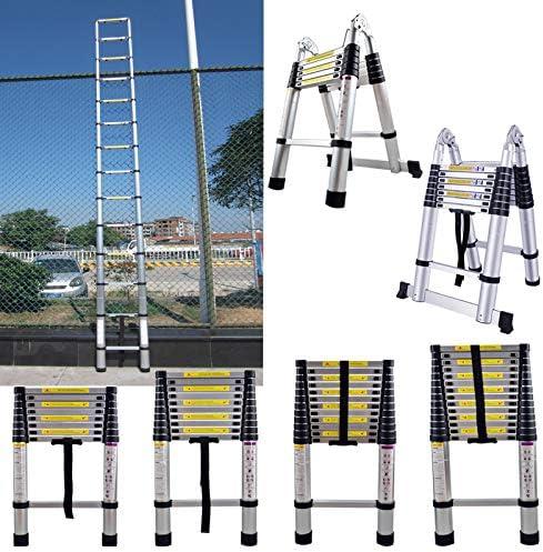 3,2m klappbar 74cm bis 2,60m Anlegeleiter 9 Sprossen SAILUN/® Teleskopleiter Klappleiter Ausziehleiter aus hochwertigem Alu Teleskop-Design Mehrzweckleiter 150 kg Belastbarkeit