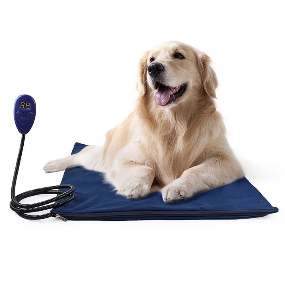 bluee 5050cm bluee 5050cm Pet Heat Pad Warmer, Electric Pet Dog Puppy Heater Bed Mat Temperature Control with Soft Covers Thermal Predection bluee 50  50cm