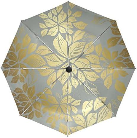 VAWA 日傘 折りたたみ 軽量 自動開閉 おしゃれ かわいい 花柄 和風 和柄 復古風 遮光 遮熱 UVカット 3段折 折りたたみ傘 ワンタッチ 晴雨兼用 収納ポーチ付き