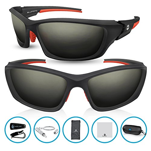 BLUPOND RANGER Polarized Sports Sunglasses with Strong Grip Frame - glasses for Cycling Running Fishing & - Sunglasses Underarmor