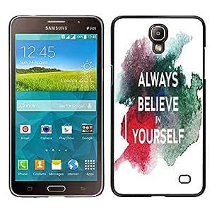 Dragon Case - FOR Samsung Galaxy Mega 2 - Believe in yourself - Caja protectora de pl??stico duro de la cubierta Dise?¡Ào Slim Fit