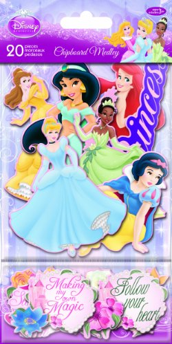 Sandylion Princess Chipboard Medleyth Glitter Sticker