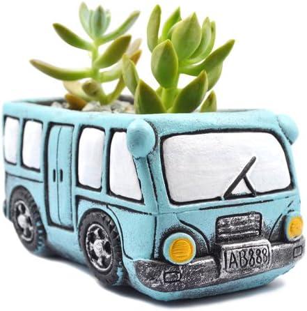 Amazon Com Ascrafter Green Bus Succulent Planter Small Succulent