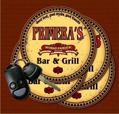 (PRIMERA'S World Famous Bar & Grill Coasters - Set of 4)