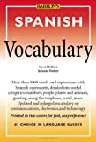 img - for Spanish Vocabulary (Barron's Vocabulary Series) book / textbook / text book