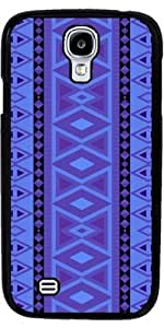 Case for Samsung Galaxy S4 Mini (GT-I9195) - tribal pattern vertical,blue by ruishername