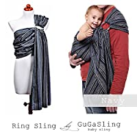GuGaSling Navy Baby ring sling with gift bag